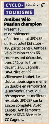Champion départemental